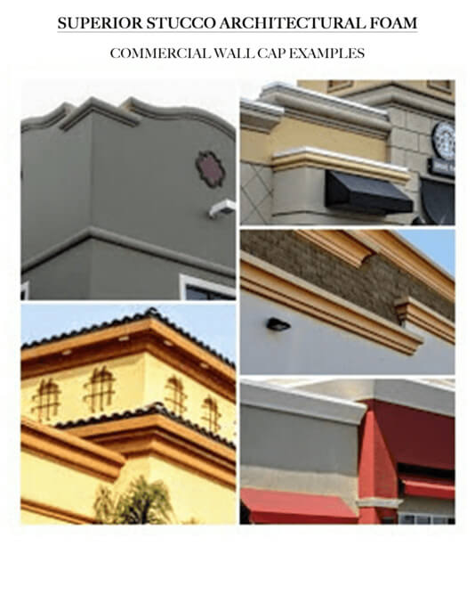 commercial wall cap examples