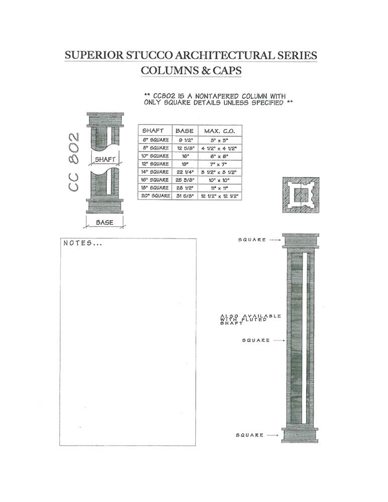 columns and caps